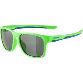 Alpina Flexxy Cool Kids I Occhiali Bambino, neon green/blue/black mirror